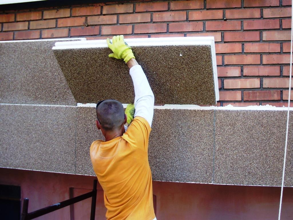 Работы по утеплению фасадов минеральной ватой