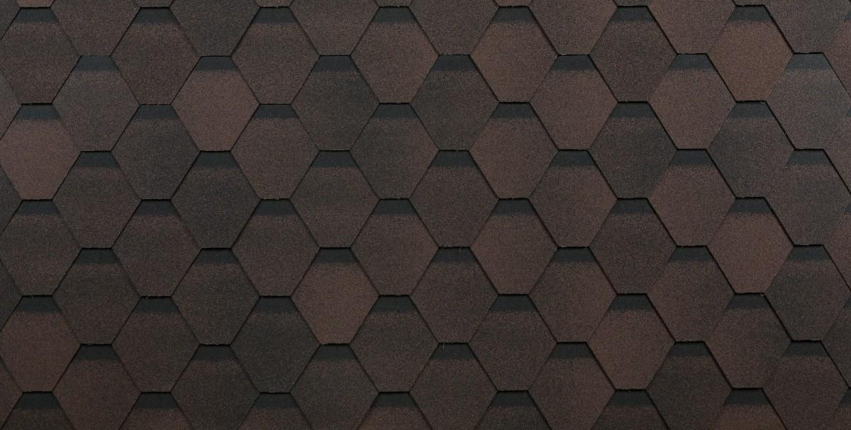 Черепица Шинглас Оптима коричневый